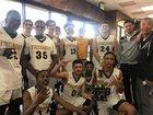 Firebaugh Falcons Boys Varsity Basketball Winter 18-19 team photo.