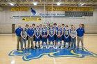 Sheridan Broncs Boys Varsity Basketball Winter 18-19 team photo.