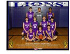 Life Christian Lions Boys Varsity Basketball Winter 18-19 team photo.