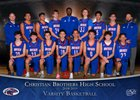 Christian Brothers Falcons Boys Varsity Basketball Winter 18-19 team photo.