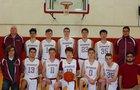 Concordia Christian Academy Hawks Boys Varsity Basketball Winter 18-19 team photo.