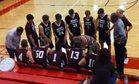 University Christian Barracudas Boys Varsity Basketball Winter 18-19 team photo.