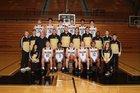 Noblesville Millers Boys Varsity Basketball Winter 18-19 team photo.