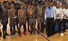 St. Frances Academy Panthers Boys Varsity Basketball Winter 18-19 team photo.