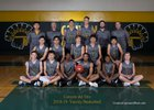 Canyon del Oro Dorados Boys Varsity Basketball Winter 18-19 team photo.