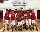 South Gate Rams Boys Varsity Basketball Winter 18-19 team photo.