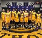 Roman Catholic Cahillite Boys Varsity Basketball Winter 18-19 team photo.