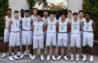 St. Mary's Knights Boys Varsity Basketball Winter 18-19 team photo.