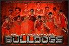 Umatilla Bulldogs Boys Varsity Basketball Winter 18-19 team photo.