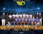 John A. Holmes Aces Boys Varsity Basketball Winter 18-19 team photo.