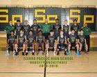 Sierra Pacific Golden Bears Boys Varsity Basketball Winter 18-19 team photo.