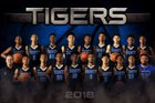 Trinity Christian Tigers Boys Varsity Basketball Winter 18-19 team photo.