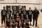 Bayfront Charter Sharks Boys Varsity Basketball Winter 18-19 team photo.