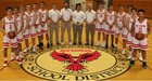 Palmyra-Macedon Red Raiders Boys Varsity Basketball Winter 18-19 team photo.