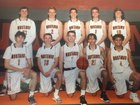 Natrona County Mustangs Boys Varsity Basketball Winter 18-19 team photo.
