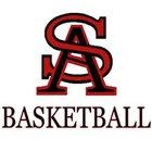 St. Albans Red Dragons Boys Varsity Basketball Winter 18-19 team photo.