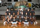 York Cougars Boys Varsity Basketball Winter 18-19 team photo.