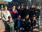 Walatowa Charter Cougars Boys Varsity Basketball Winter 18-19 team photo.