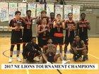 Haltom Buffalos Boys Varsity Basketball Winter 18-19 team photo.