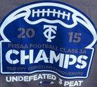 Trinity Christian Academy Conquerors Boys Varsity Football Fall 15-16 team photo.
