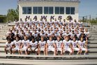 Chaska Hawks Boys Varsity Football Fall 15-16 team photo.