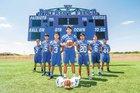 Veterans Memorial Patriots Boys Varsity Football Fall 15-16 team photo.