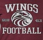 WINGS Homeschool Athletics War Eagles Boys Varsity Football Fall 15-16 team photo.