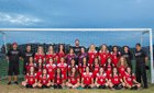 Glendora Tartans Girls Freshman Soccer Winter 17-18 team photo.