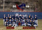 Knott County Central Patriots Boys Varsity Baseball Spring 18-19 team photo.