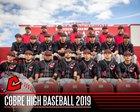 Cobre Indians Boys Varsity Baseball Spring 18-19 team photo.
