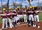 Solorio Sun Warriors Boys Varsity Baseball Spring 18-19 team photo.