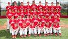 Hamburg Hawks Boys Varsity Baseball Spring 18-19 team photo.