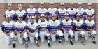 Kirtland Central Broncos Boys Varsity Baseball Spring 18-19 team photo.