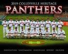 Colleyville Heritage Panthers Boys Varsity Baseball Spring 18-19 team photo.