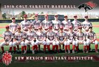 New Mexico Military Institute Colts Boys Varsity Baseball Spring 18-19 team photo.