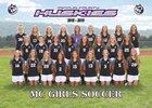 Mifflin County Huskies Girls Varsity Soccer Fall 18-19 team photo.