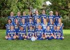 Charles O. Dickerson Blue Raiders Girls Varsity Soccer Fall 18-19 team photo.