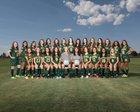 Mayfield Trojans Girls Varsity Soccer Fall 18-19 team photo.
