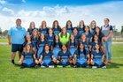 Goddard Rockets Girls Varsity Soccer Fall 18-19 team photo.