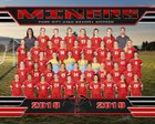 Park City Miners Girls Varsity Soccer Fall 18-19 team photo.