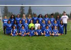 Washington Patriots Girls Varsity Soccer Fall 18-19 team photo.
