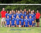 Heritage Academy Patriots Girls Varsity Soccer Fall 18-19 team photo.