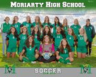 Moriarty Pintos Girls Varsity Soccer Fall 18-19 team photo.