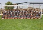 Volcano Vista Hawks Girls Varsity Soccer Fall 18-19 team photo.