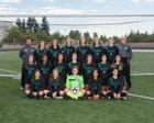 Kentwood Conquerors Girls Varsity Soccer Fall 18-19 team photo.