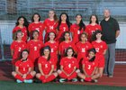 Franklin Pierce Cardinals Girls Varsity Soccer Fall 18-19 team photo.