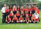 Albuquerque Academy Chargers Girls Varsity Soccer Fall 18-19 team photo.