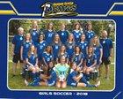 Fort Wayne Blackhawk Christian Braves Girls Varsity Soccer Fall 18-19 team photo.