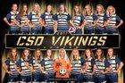 Cambridge-South Dorchester Vikings Girls Varsity Soccer Fall 18-19 team photo.