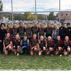 Juab Wasps Girls Varsity Soccer Fall 18-19 team photo.